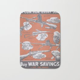 Reprint of British wartime poster. Bath Mat