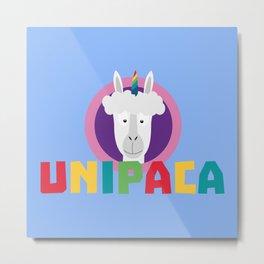 Alpaca Unicorn Unipaca B4srx Metal Print