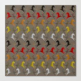 Native American War Horse Canvas Print
