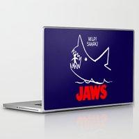 jaws Laptop & iPad Skins featuring Jaws by IIIIHiveIIII
