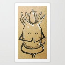 Namaste Aloe Art Print