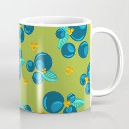 Blueberries | Green Coffee Mug