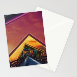 Bridge of a Thousand Colors, a Beautiful Rainbow Fractalscape Stationery Cards