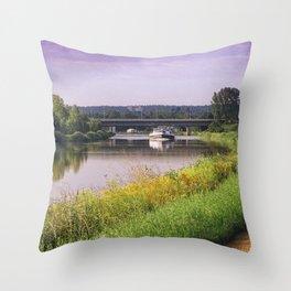 canal boatman Throw Pillow