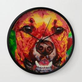 Kissable Pup Wall Clock