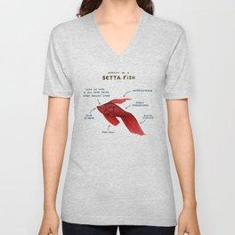 Anatomy of a Betta Fish Unisex V-Neck