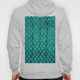 -A4- Stylish Green Traditional Moroccan Carpet Texture. Hoody