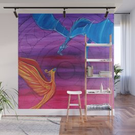 Everlasting Love - Dragon and Phoenix Wall Mural