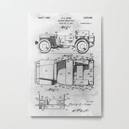 Military vehicle body Metal Print