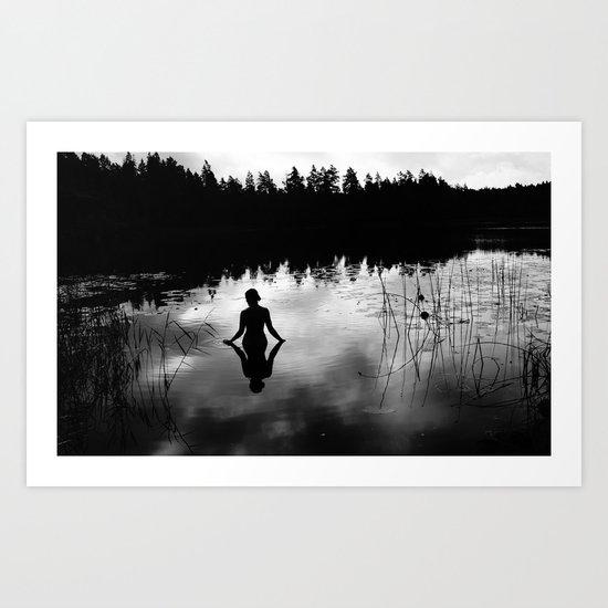 Reflecting Beauty v2 BoW Art Print