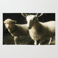 silence of the lambs Area & Throw Rugs featuring Lambs by Kaila Braley