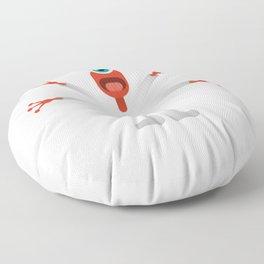 Crazy Alien Is it Halloween Yet Floor Pillow