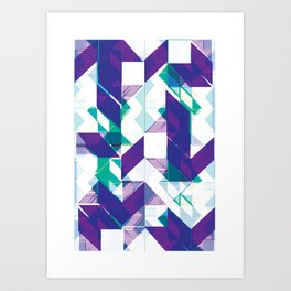 Violets are purple Art Print