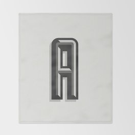 Letter A Throw Blanket