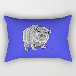 Baby rock hyrax - blue Rectangular Pillow