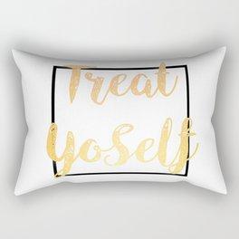 Treat Yoself Rectangular Pillow