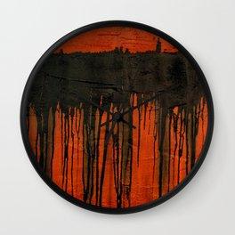 Weeping earth Wall Clock