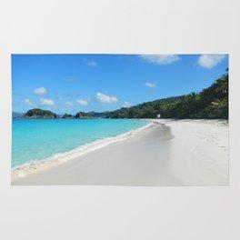 Caribbean beach Trunk Bay Rug