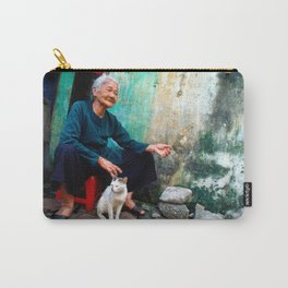 Old Woman with Cat - VIETNAM - Asia Carry-All Pouch
