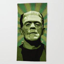 Frankenstein - Pop Art Beach Towel