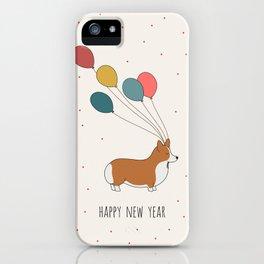 HAPPY NEW YEAR CORGI iPhone Case