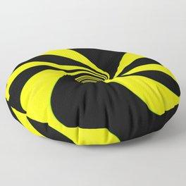Abstract. Yellow+Black. Floor Pillow