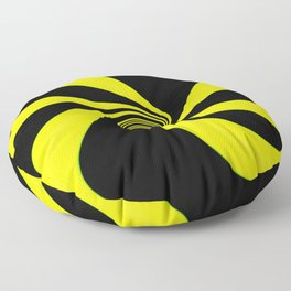 Abstract. Yellow+Black. Floor Pillow