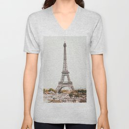 Paris City France Unisex V-Neck