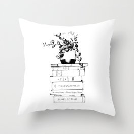 The Nature of Books Throw Pillow