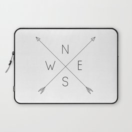 Geometric Minimal Compass Laptop Sleeve