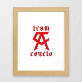 Saul Canelo Alvarezh Boxing Framed Art Print