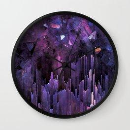 Ultraviolet Crystal World Wall Clock