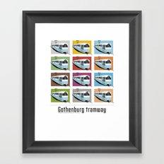 Gothenburg tramway Framed Art Print