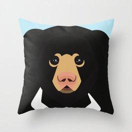 Sloth bear Throw Pillow