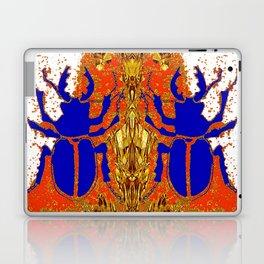 Lapis Blue Beetle on Gold Laptop & iPad Skin