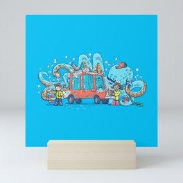 Octopus Carwash Mini Art Print