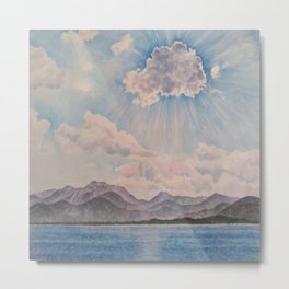 Lake Tahoe After a Summer Storm Metal Print
