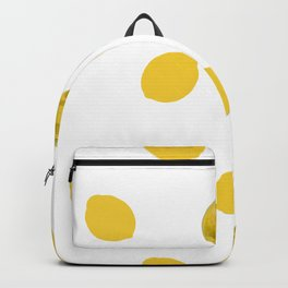 Lemons simple design pattern for fabric seamless pattern with white background Backpack