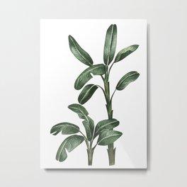 Banana Leaf Trees - Tropical Watercolour Trees illustration Metal Print