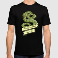 Tunnel Snakes Rule! Black Mens Fitted Tee SMALL