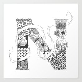 "Zenletter ""N"" Art Print"