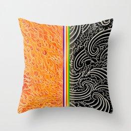 Fire/Air Set A Throw Pillow