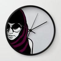 sagittarius Wall Clocks featuring Sagittarius by Bree Stillwell Craft