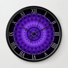 Mandala in violet and prurple tones Wall Clock