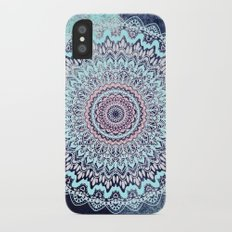 BLUE AUTUMN BOHO MANDALA iPhone X Slim Case