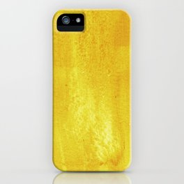 Brushed Yellow iPhone Case