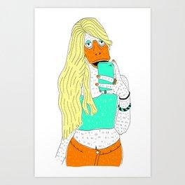 Duck Face Art Print