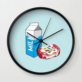 Milk Steak Wall Clock