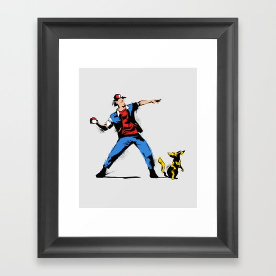 Gotta Catch em all  Framed Art Print