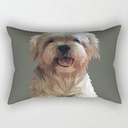 Shih tzu Low Poly Rectangular Pillow